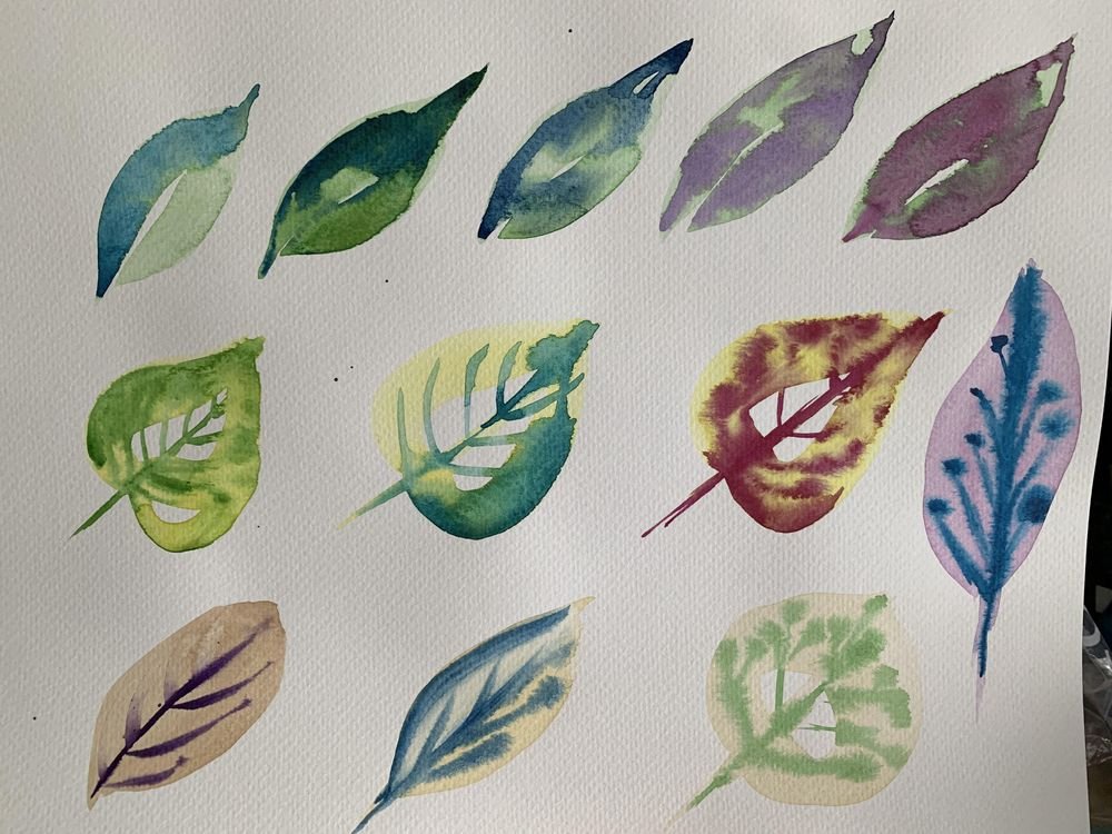 Loose Watercolour Florals - image 1 - student project