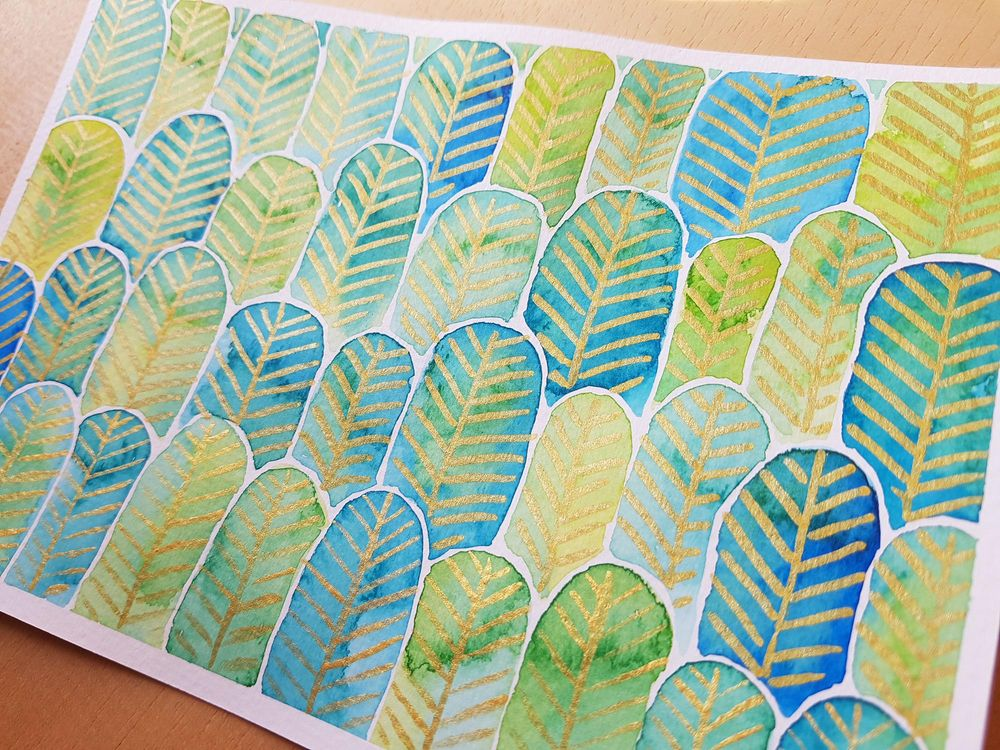 Feather Forest Pattern - image 1 - student project