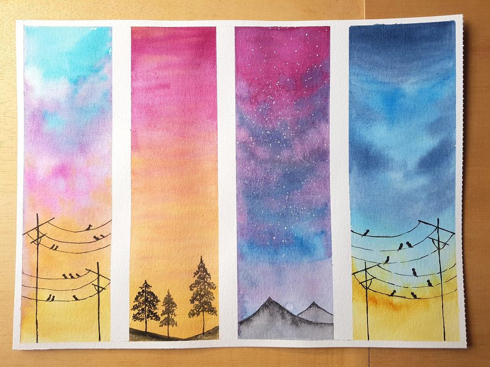Watercolour Skies by Viddhi - image 1 - student project