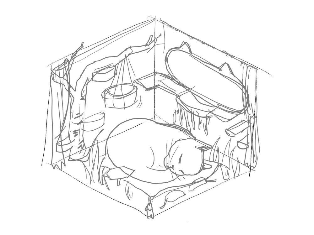 My cat's dream room - image 1 - student project