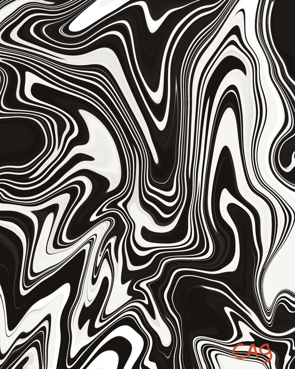 Digital Marbling: 3 prints - image 3 - student project