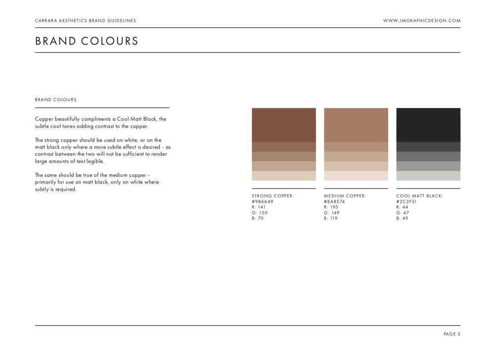 Brand Identity Design: Carrara Aesthetics - image 25 - student project