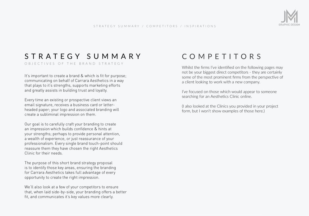 Brand Identity Design: Carrara Aesthetics - image 1 - student project