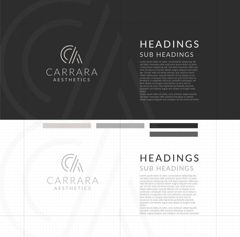 Brand Identity Design: Carrara Aesthetics - image 18 - student project