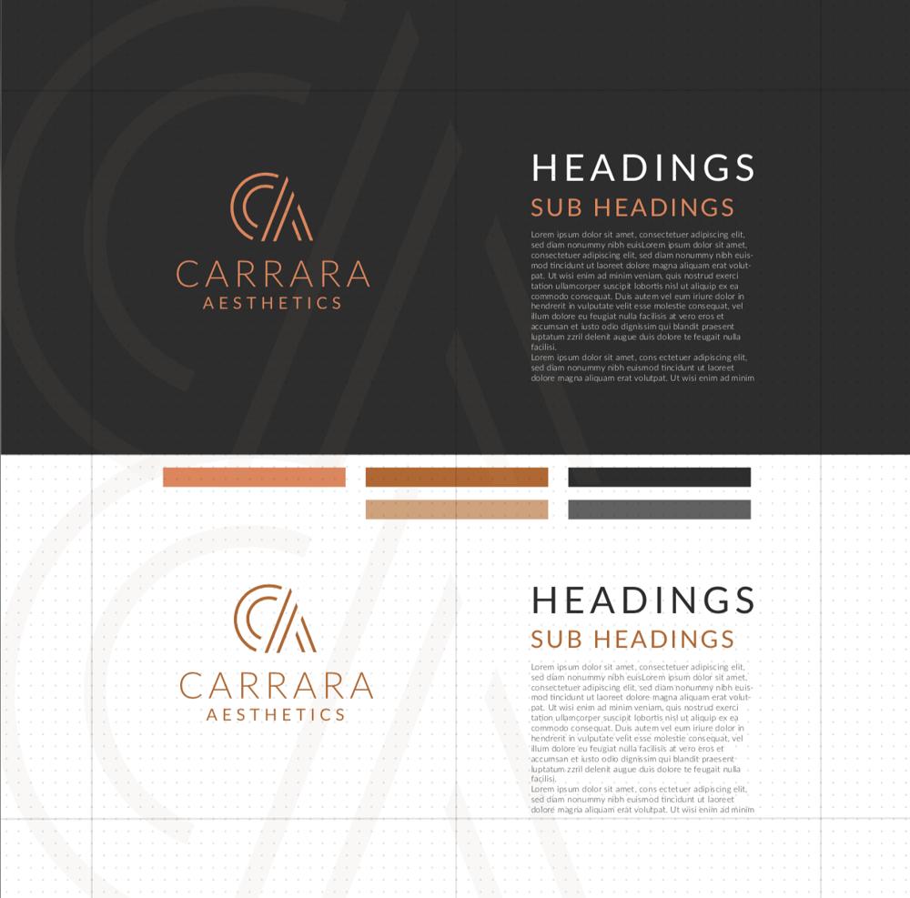 Brand Identity Design: Carrara Aesthetics - image 20 - student project