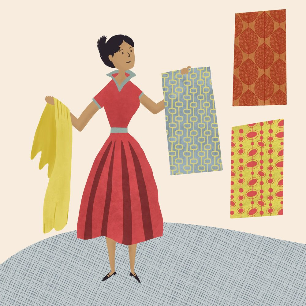 Midcentury style Illustrations - image 1 - student project
