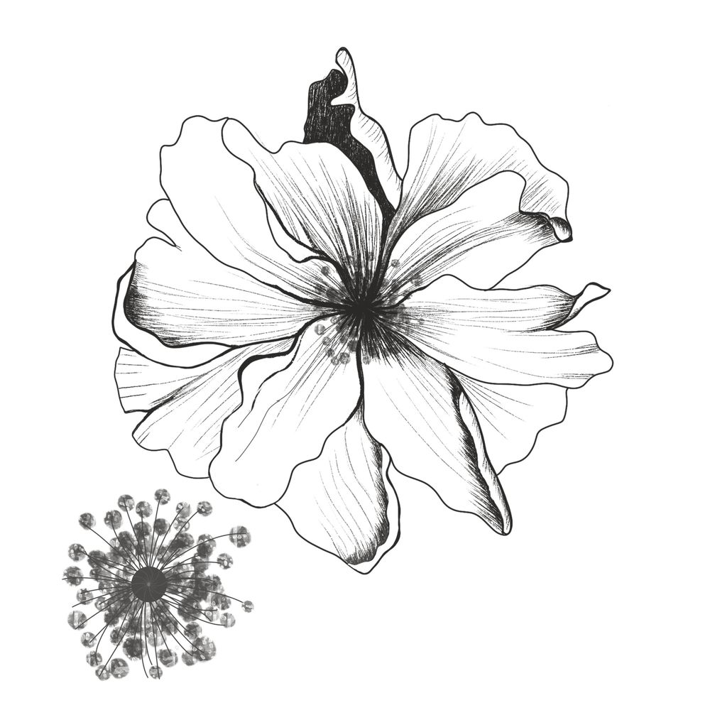 Floral stamp brush - image 1 - student project