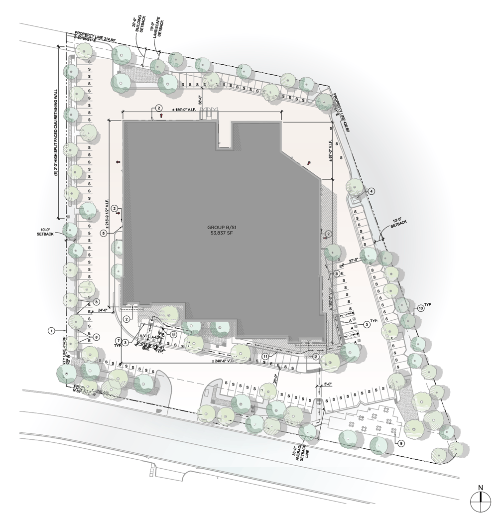 ARCHIECTURAL SITE PLAN - image 1 - student project