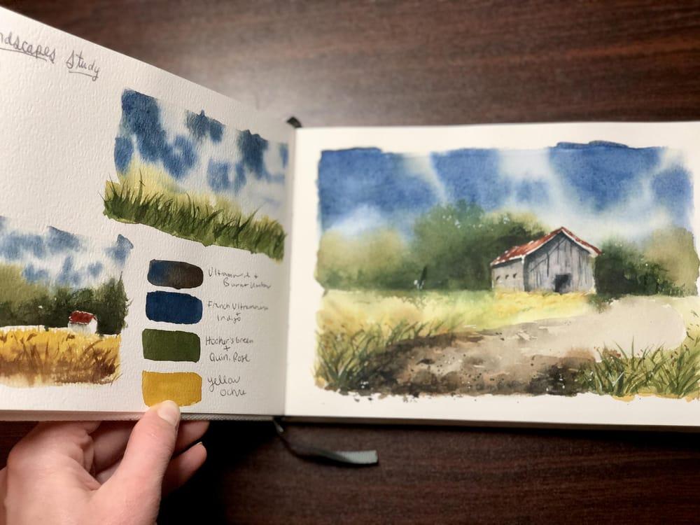 Landscape Study - Watercolor Journal - image 3 - student project