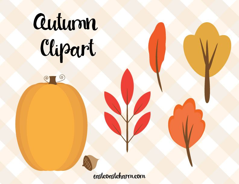 Fall Clipart - image 3 - student project
