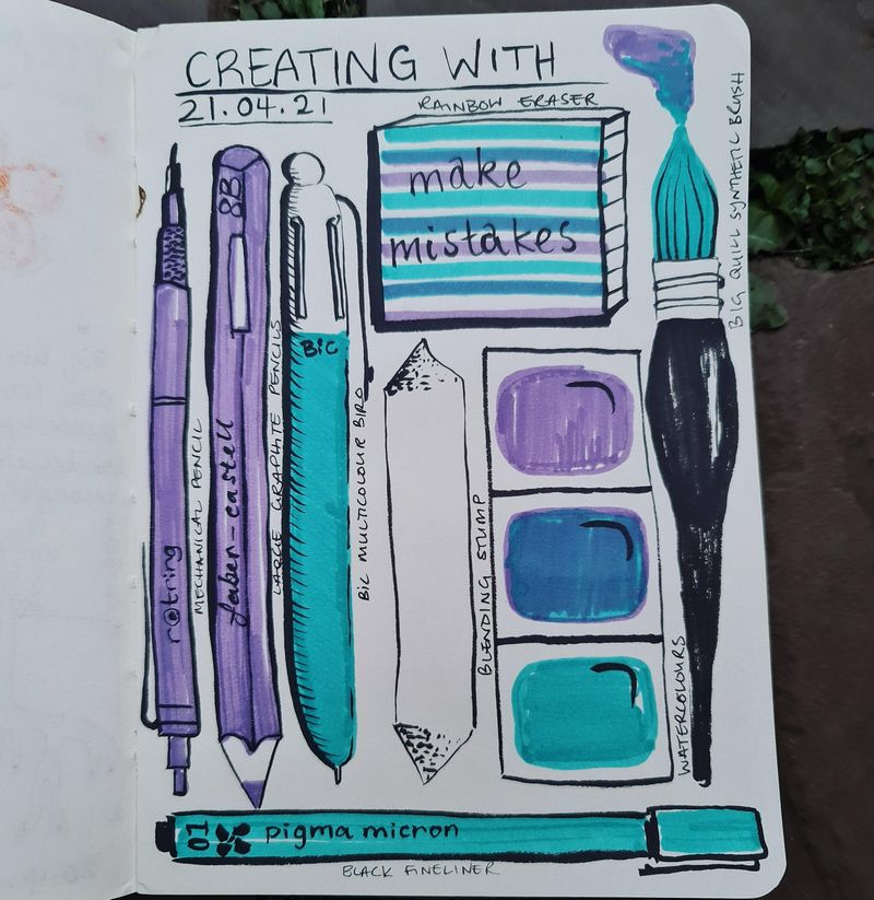 14 days of illustrated journal entries