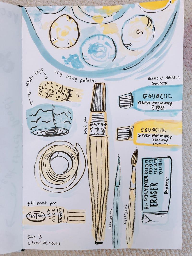 illustrated journalling
