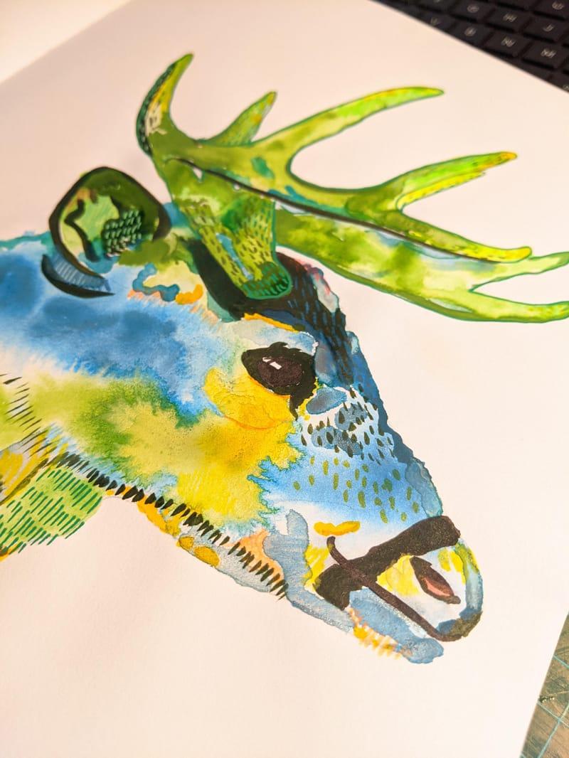 Free flow watercolour