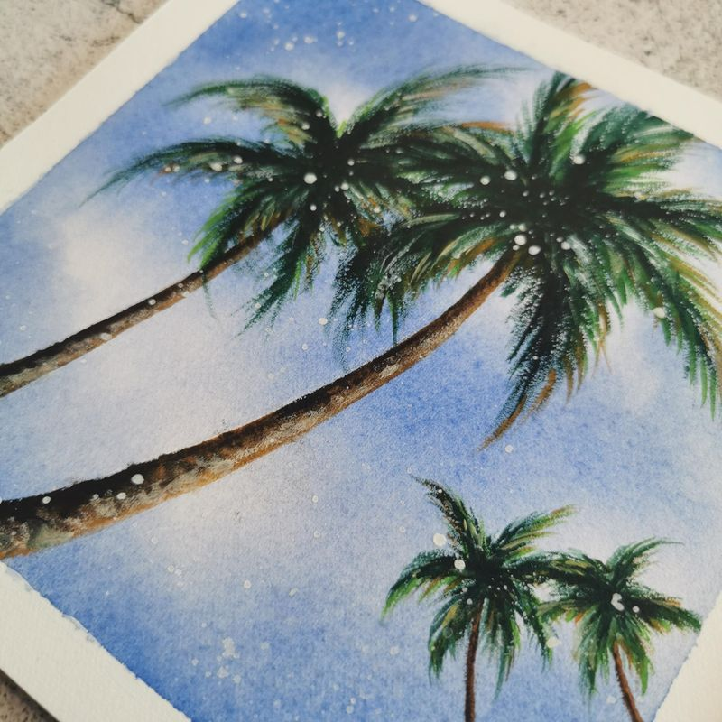 Watertcolor Palm Trees