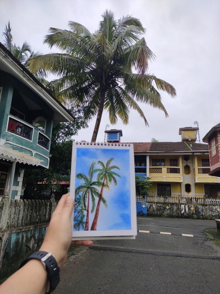 Playful Palms in a Blue sky