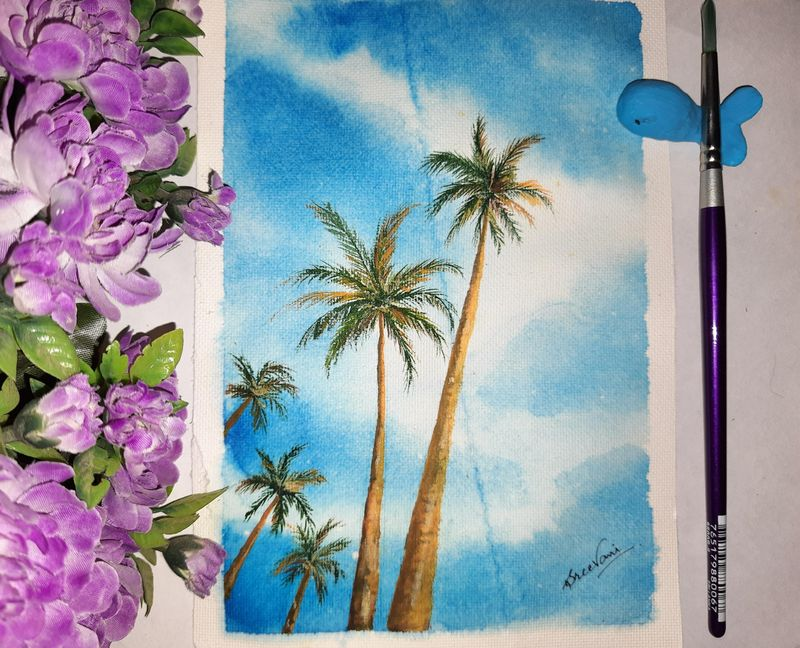 Water color Palm Trees for Beginners