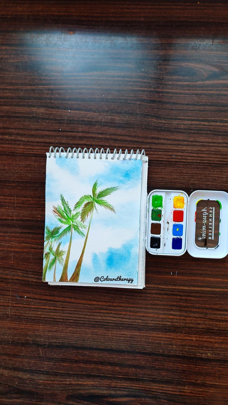 Watercolor Palm Trees for Beginners <3 <3 <3