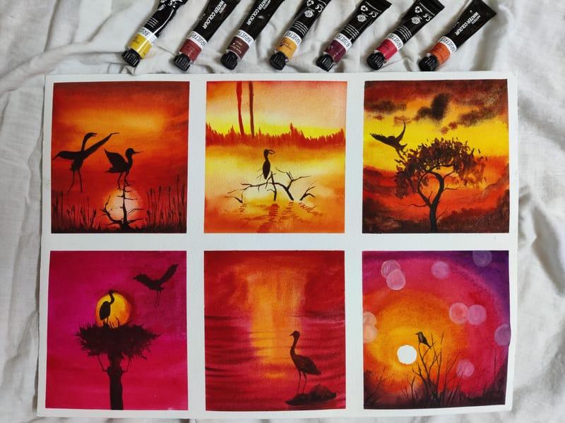 Watercolor marathon-month 1