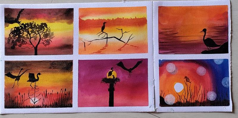 Watercolor Marathon- month 1