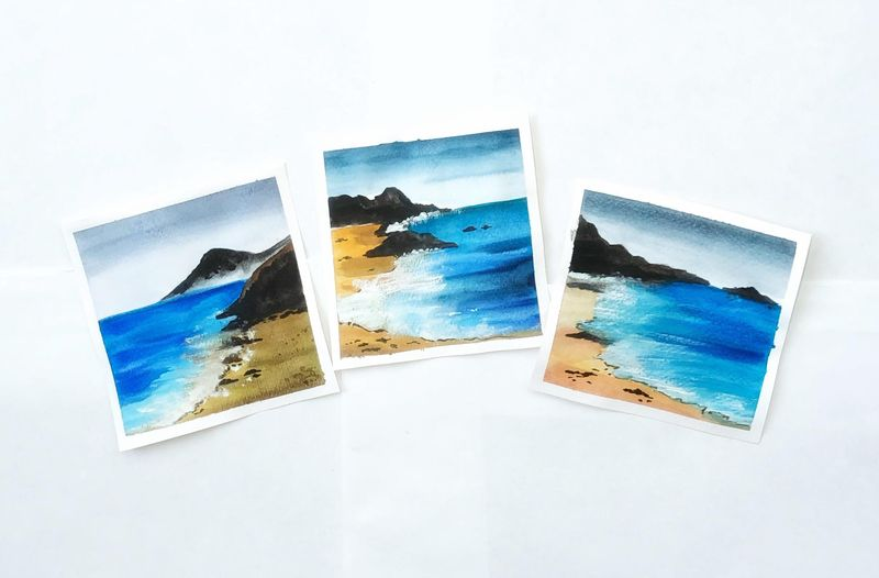 Watercolor oceanscapes