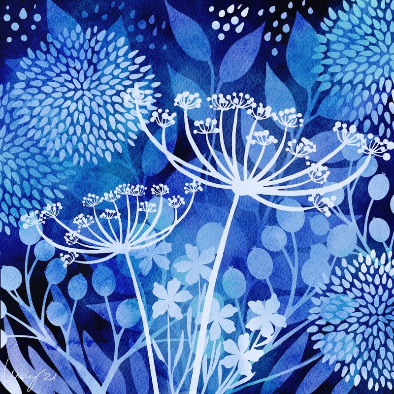 Lovely negative painting project