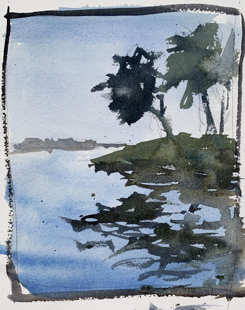 How To Paint Water With Watercolors