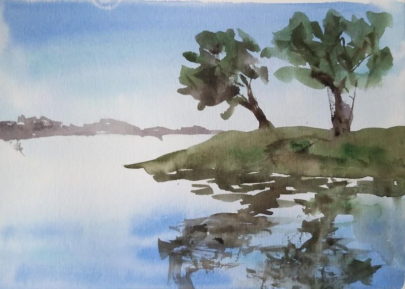 Water with Watercolor