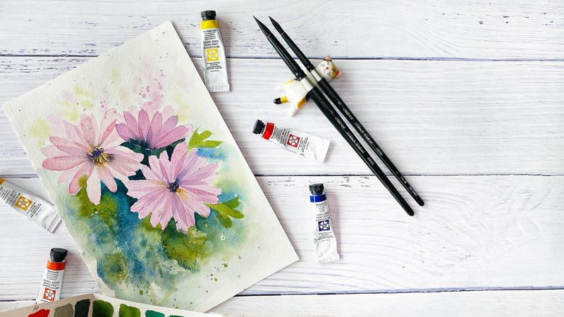 African Daisies in Layering Technique