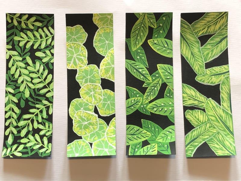 Leaf Pattern Bookmarks