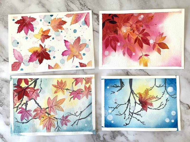 Mesmerizing Autumn in Watercolors