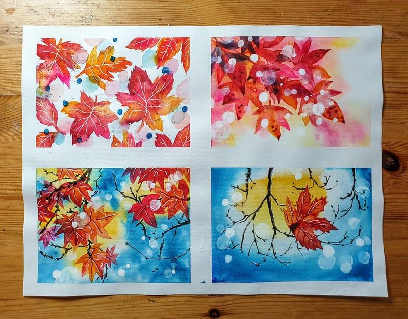 Atmospheric autumn leaves