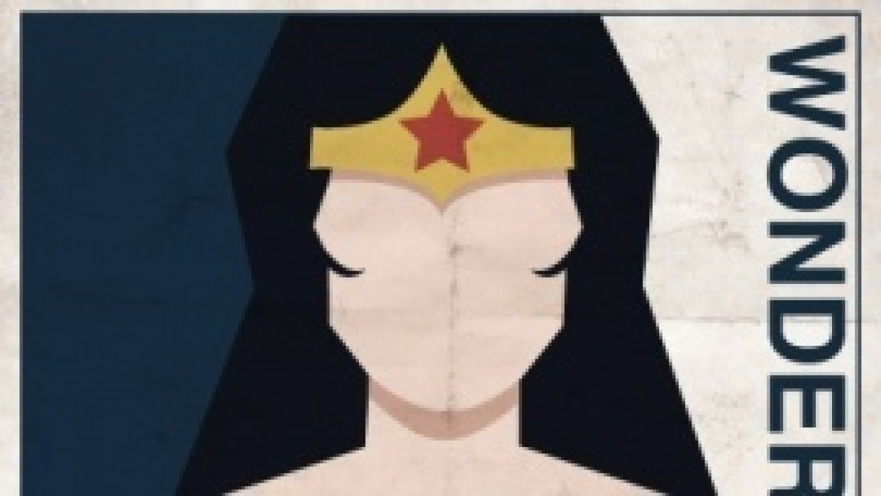 Wonder Woman Vintage Graphic Art Poster - student project