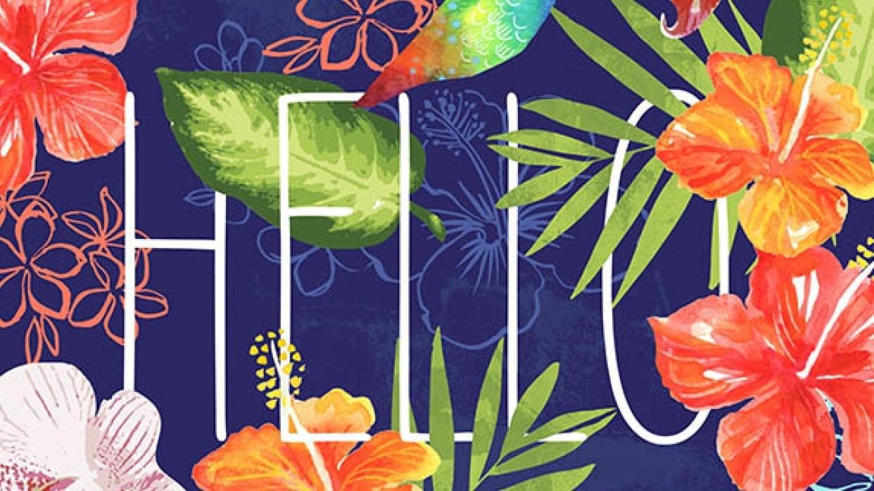 Hello...Tropical Hummingbird - student project