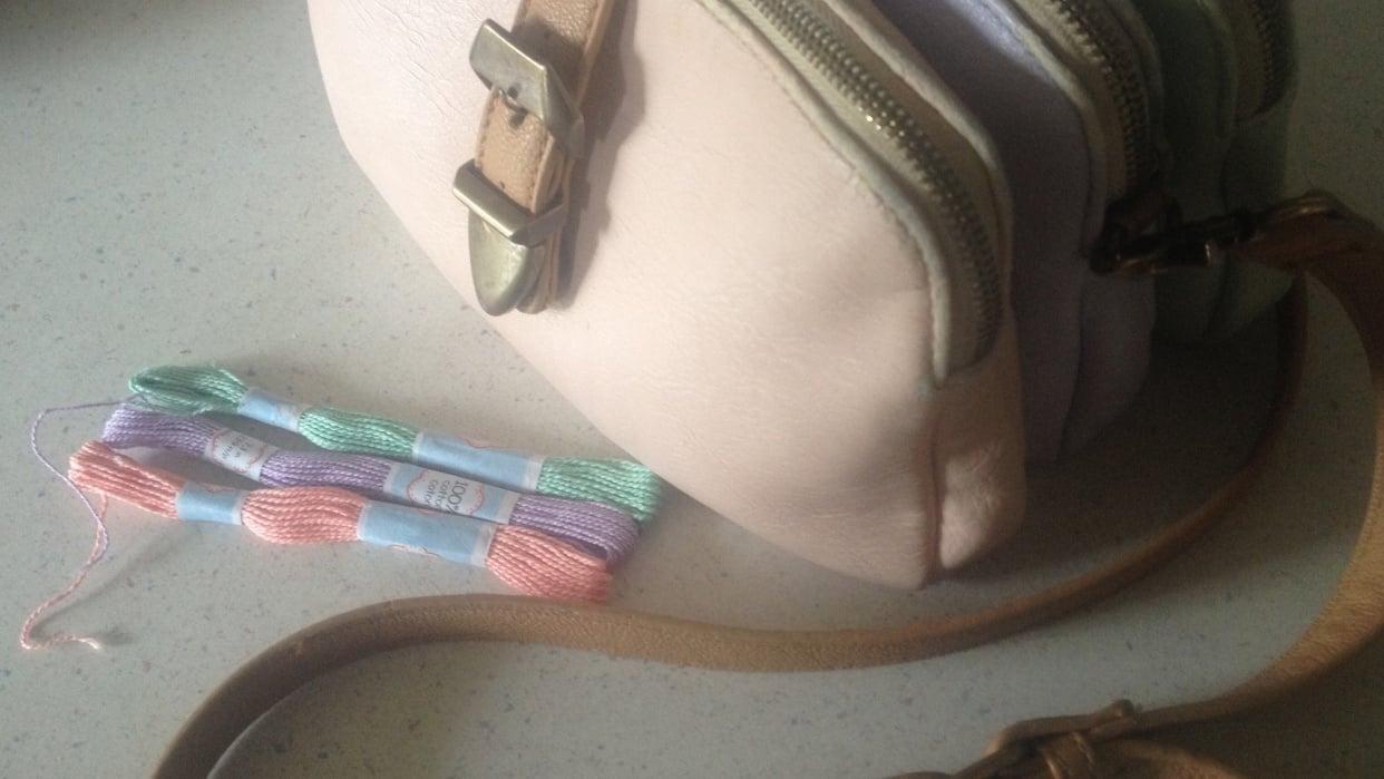 My Tri-Colour Purse & Matching Bracelet - student project
