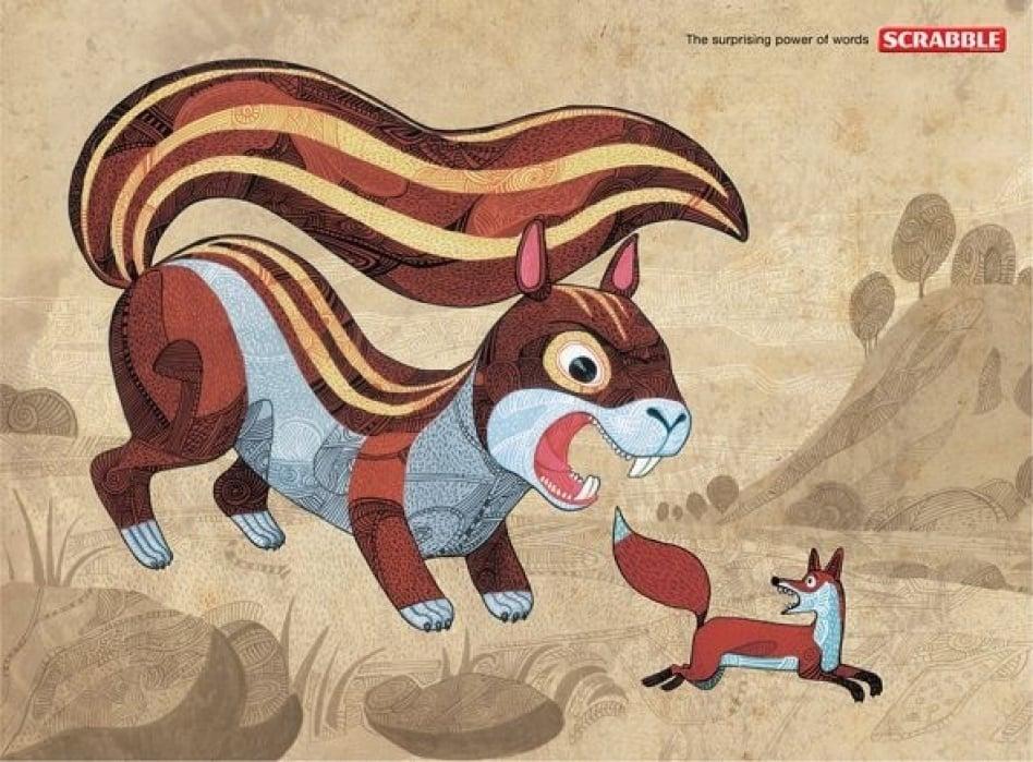 Scrabble Squirrel - student project