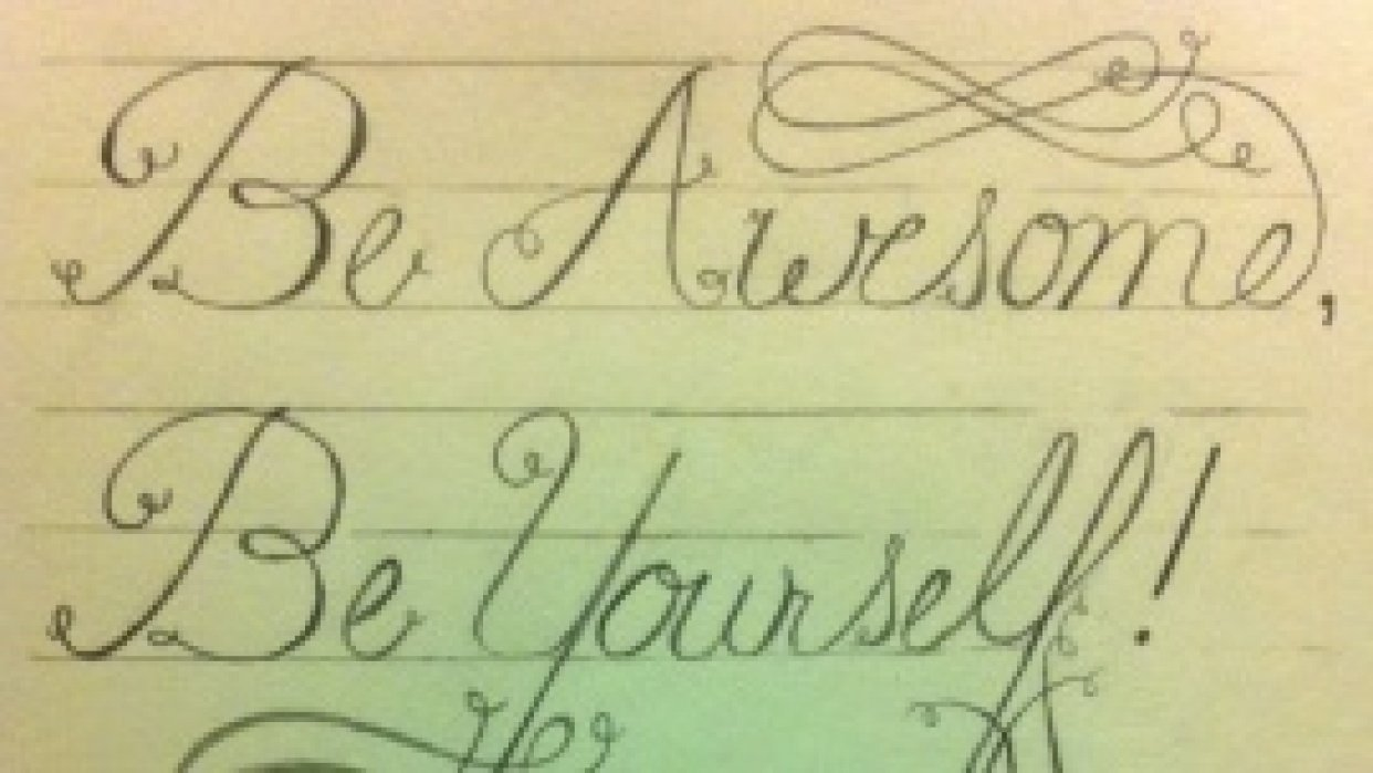 Be Awesome, Be Yourself! - student project