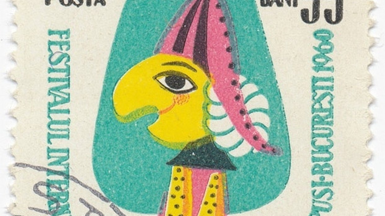Recreating a 1960 Romanian Stamp-International Festival of Puppet Theatre - student project