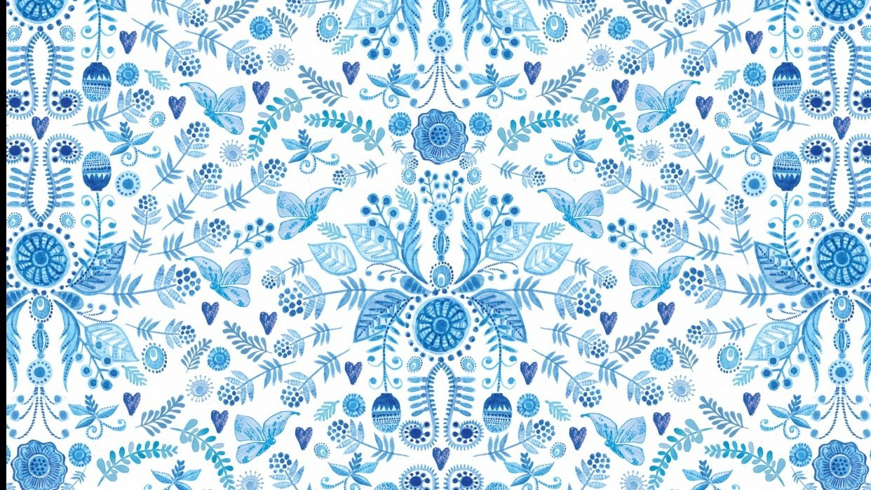 Blue and White  - student project