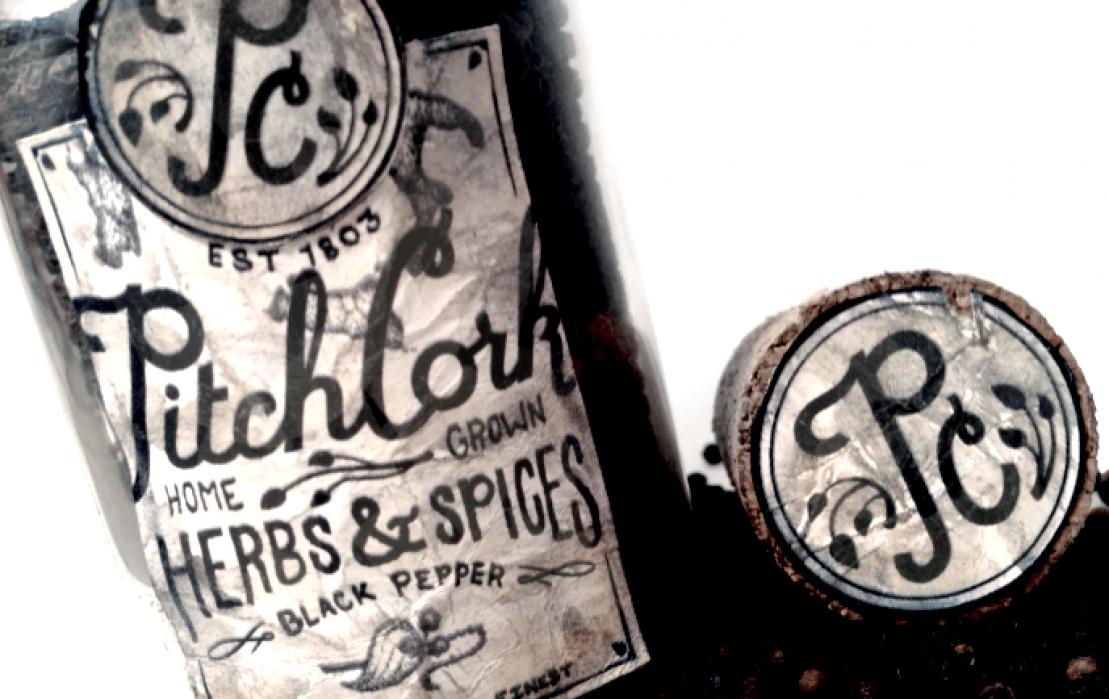 PitchCork Bottled Herbs - student project