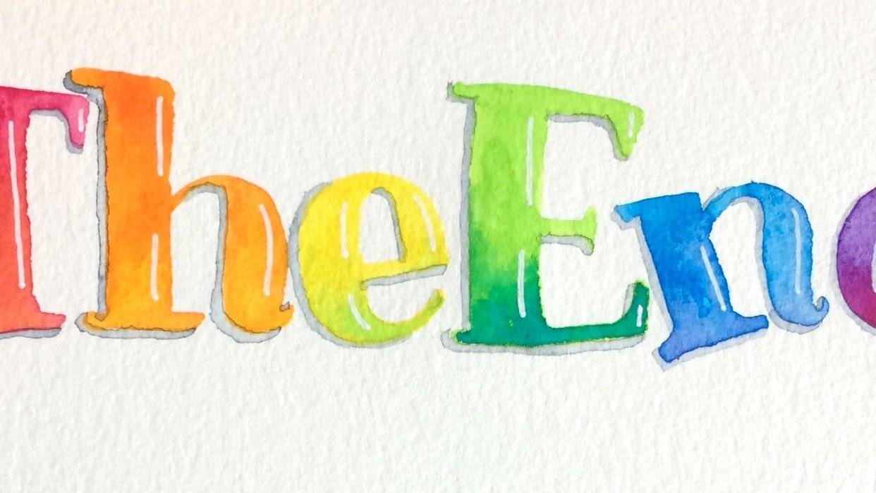 colorful letters! - student project