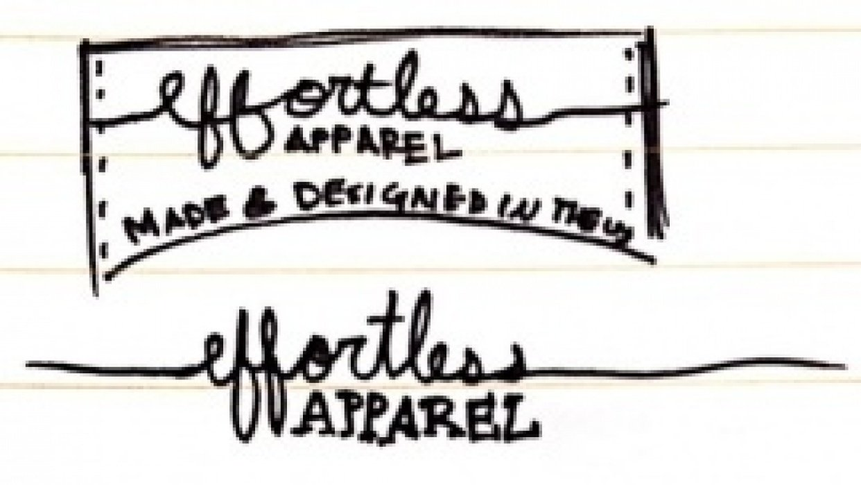 effortless apparel Clothing Tag - student project