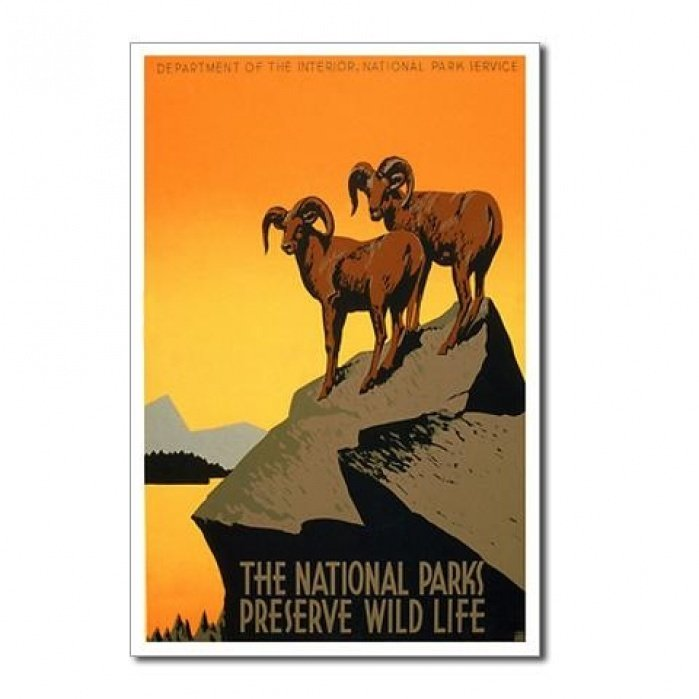 Retro National Parks Poster - student project