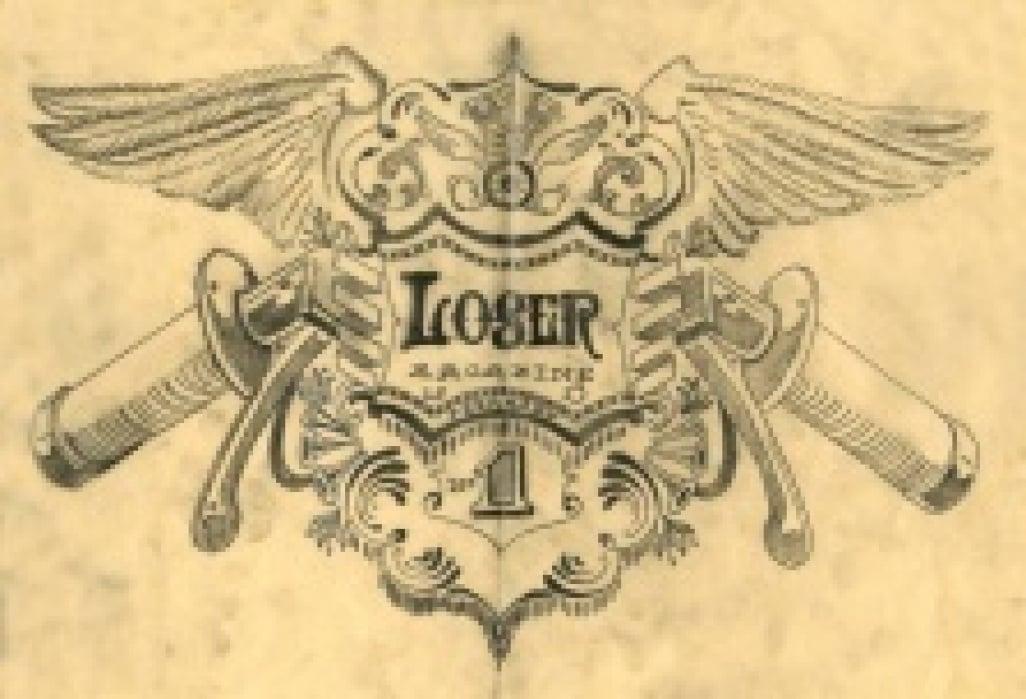 LOSER MAGAZINE MASTHEAD - student project