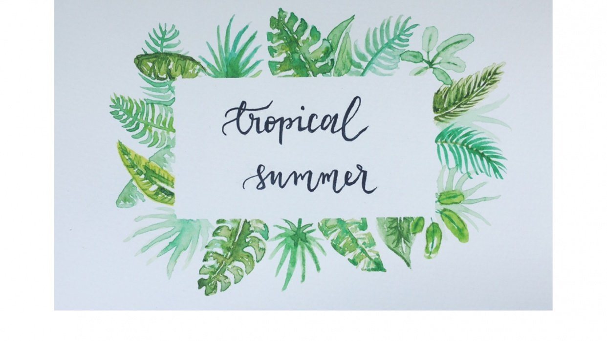 tropical leaves - student project