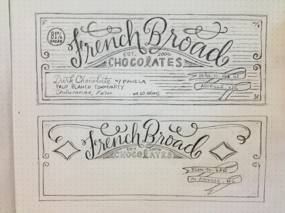 french broad chocolates! - student project