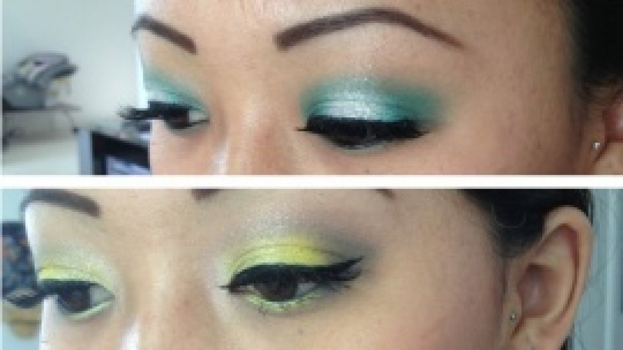Lagoon Sparkle & Mellow Yellow - student project