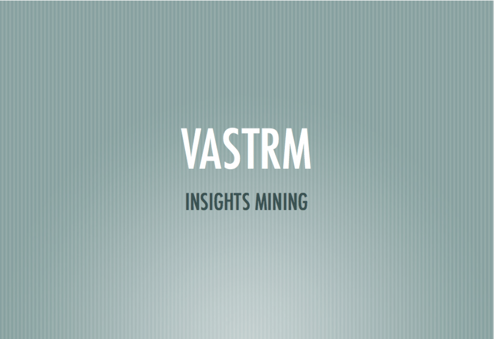 Vastrm Insights Mining - student project
