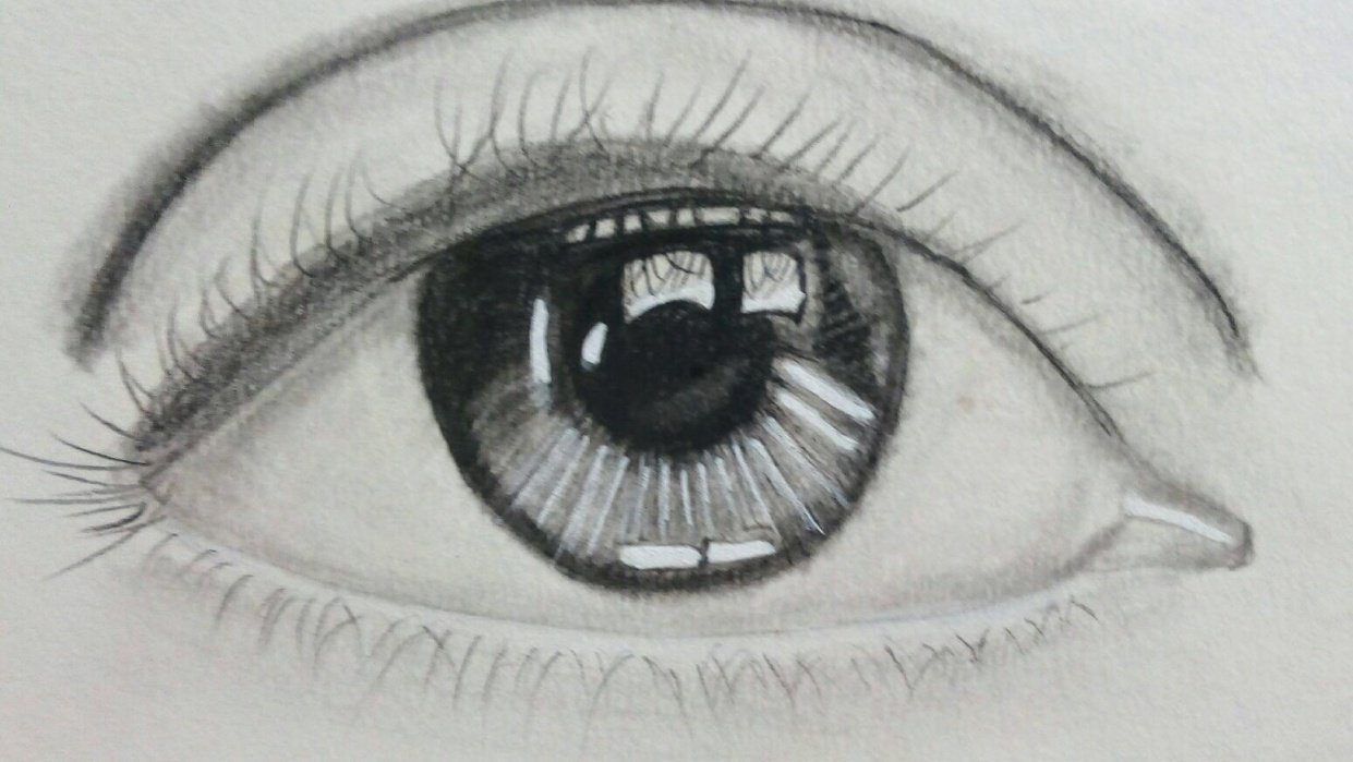 Realistic eye - student project