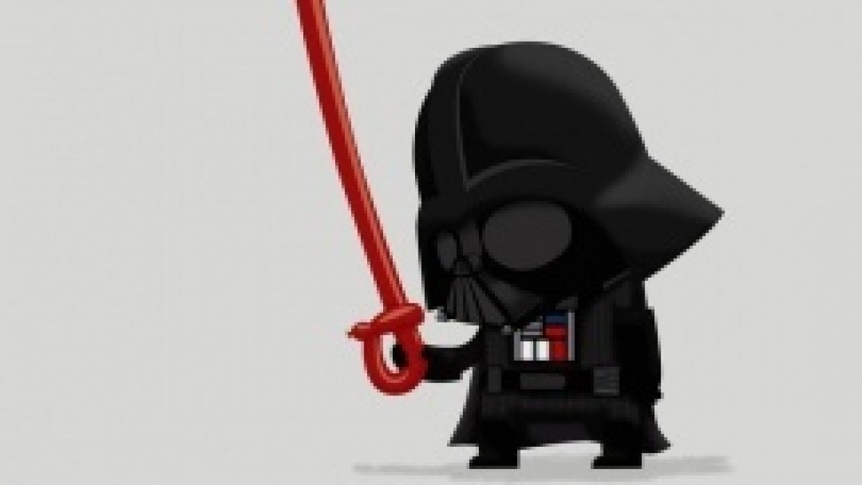 Teach me The Force*, Baby Darth. (*The Force is Illustrator, apparently.)  - student project