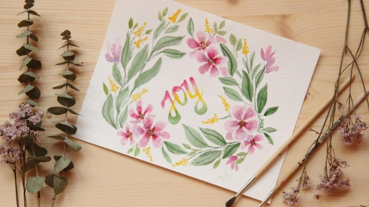 Watercolor Joy  - student project